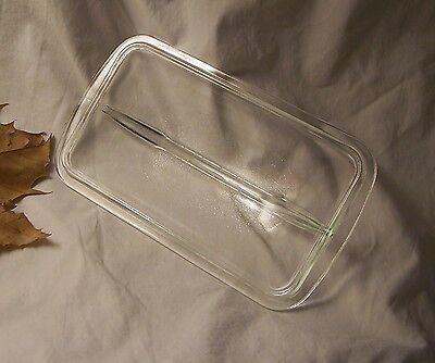 """Oven Grade Glass Cover for Bread Pan or Casserole - Branded """"W"""""""