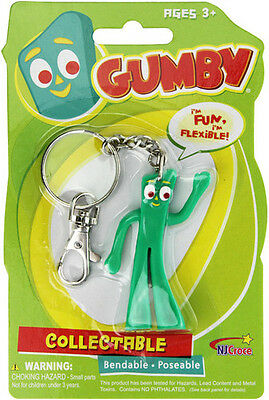 Gumby 3 Bendable Keychain (2015, Toy NEW)