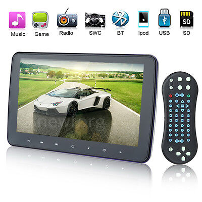 "HDMI 10.1"" Digital LED Screen Car Headrest Monitor DVD/USB/SD Player IR/FM Game"