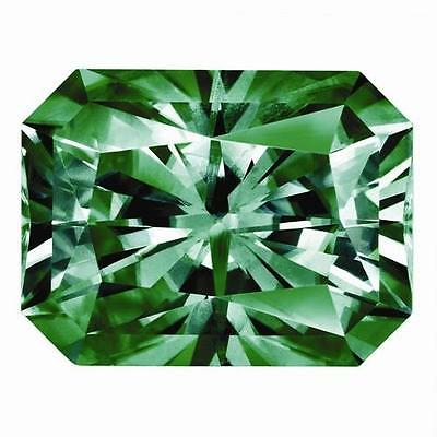 1 Radiant Moissanite Fancy Green Brilliant 8x6mm Diameter 1.55 tcw Loose Stone