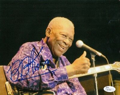 BB King Blues Legend Autographed Signed 8x10 Photograph (JSA) Deceased RARE!