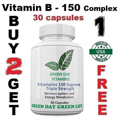 Vitamin B - 150 Complex Supreme Triple Strength /Made in USA/ Free shipping