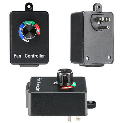 3 Setting Variable Fan Speed Controller Hydroponics Inline Exhaust Duct AC 120V