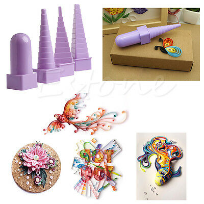 4x Paper Quilling Border Buddy Tower Quilled Creation Craft DIY Tool 1 Set