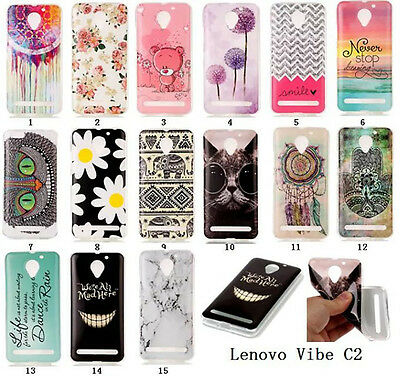 FOR LENOVO VIBE C2 k10a40 Soft TPU Back Case Colorfu Pattern Skin Silicone  Cover