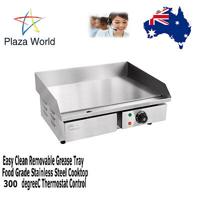 Electric Griddle Grill BBQ  Flat Plate Removable Grease Tray Cooking Hotplate