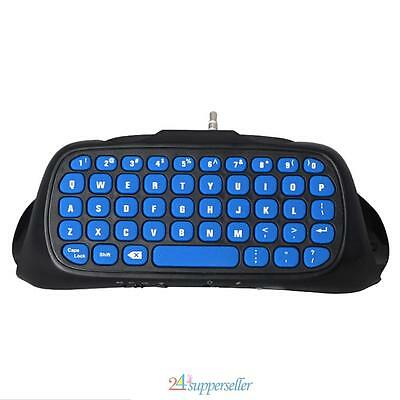 Mini USB Wireless Chatpad Message Keyboard for PS4 PS4slim Controller 2.4G Blue