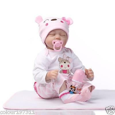 """Lovely 22"""" Reborn Baby Dolls Real Life Newborn Silicone playmate Fast Shipping"""