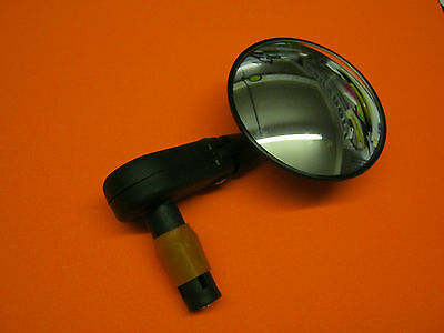 BICYCLE CYCLE BIKE BAR END ROUND MIRROR fits into handlebar (8657)