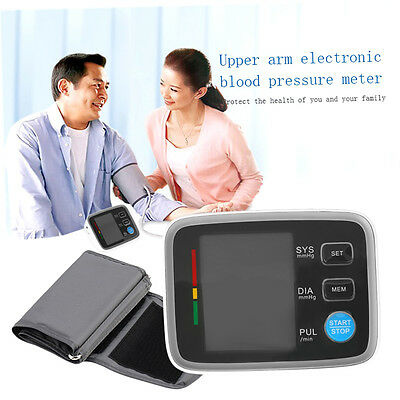 New Digital LCD Fully Automatic Upper Arm Style Blood Pressure Monitor F3