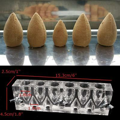Acrylic Transparent 10 holes Incense Cones Mould Mold DIY Tool for Beginners