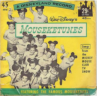 Songs from the Mickey Mouse Club T.V. Show