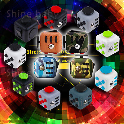 Stress Relief 6-side Fidget Fun Cubes Dice ADD ADHD Toy Gift For Adults/Kids
