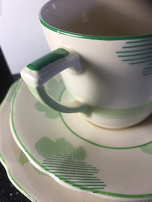 D5552 ATHLONE TRIO green COLOUR Cup Saucer & Side Plate Royal Doulton English