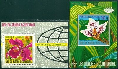 Equatorial Guinea Michel BLK 130-131 MNH Protection of Nature Flowers Flora $$