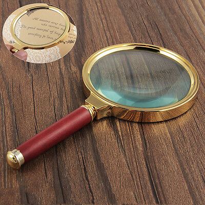 3X Fach Hand Lupe Vergr??erungsglas Leselupe Lesehilfe Magnifier Jewelry 90mm