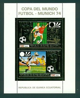 Equatorial Guinea Michel BLK 82A MNH Gold World Cup 1974 Germany Soccer $$