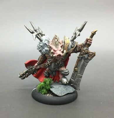Privateer Press Warmachine Hordes Minions Farrow Lord Carver Warlock Painted