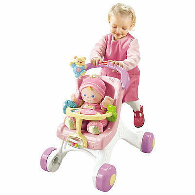 Fisher Price Brilliant Basics My Stroll & Play Walker With Doll***PRE-OWNED***