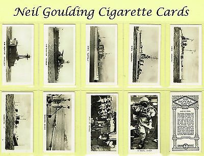 BAT (B.A.T.) - The Royal Navy 1930 #1 to #50 Cigarette Cards