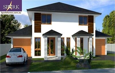 Duplex Kit Home - 297A, 6 Bedrooms - Size 309.5m2, Pre-Fab Homes, Engineered