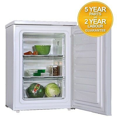 SIA FF105 60cm 100L Free Standing Under Counter Freezer In White A+