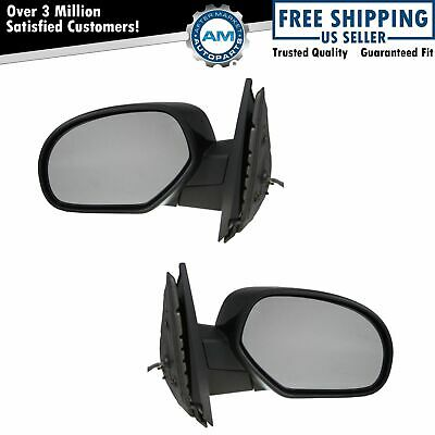 Side Mirrors Power Heated Folding Black Left & Right Pair Set for Chevy GMC
