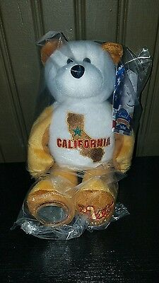 "New 2005 State Quarter Bear - California Limited Treasures 8"" 31st State"
