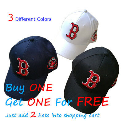 NEW Boston Red Sox Baseball Unisex Hat Cap Letter B Mens & Womens Cotton AU