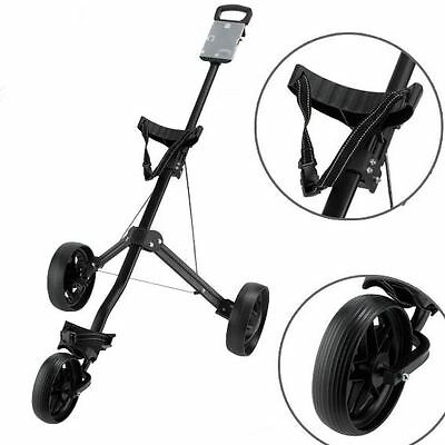 2016 Ben Sayers 3 Wheeled Aluminium Trolley Pull/ Push Golf Trolley