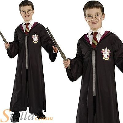 Harry Potter Official Costume Kit Boys Book Week Fancy Dress Robe Glasses Wand