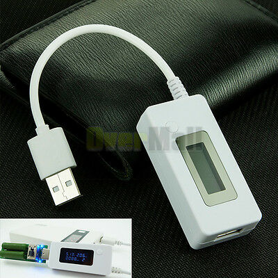 LCD Dual USB Mini Voltage and Current Detector Mobile Power USB Charger Tester