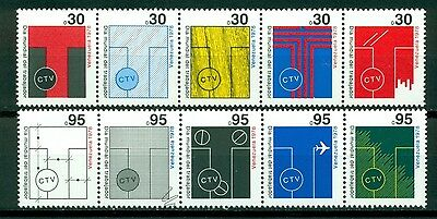 Venezuela Scott #1199-1200 Strips of 5 MNH Workers' Day See Scan $$