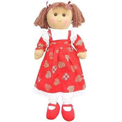 Powell Craft Large Rag Doll in Heart Dress - Birthday - Christmas Gift girls