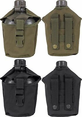 Military Genuine GI 1 Quart Canteen & MOLLE Compatible Canteen Cover USA Made