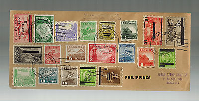 1944 Philippines Japan Occupation Cover Great Multi Franking