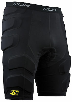 Klim Mens Black Tactical Snowmobile Armor Shorts Snow Snowcross
