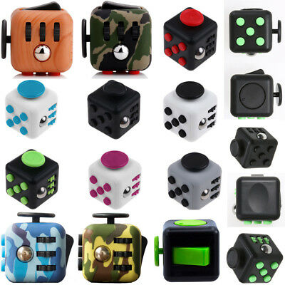 Fidget kick Cubes Anxiety Stress Relief 6-side/12-side Dice Toys For Adults Kids