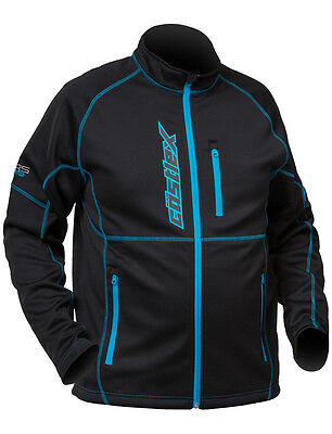 CastleX Mens Black/Blue Fusion Snowmobile Mid-Layer Jacket Snow Snocross