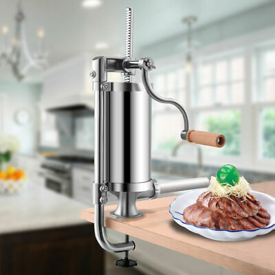 1.5L Stainless Steel Vertical Sausage Stuffer Maker Meat Filler Commercial