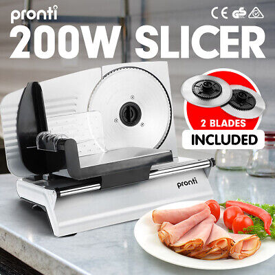 New Pronti Electric Meat Slicer- Food Cheese Processor Bread Vegetable 200W