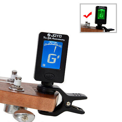 LED Clip-on Electronic Digital Guitar Tuner Chromatic Bass Violin Ukulele Tuner