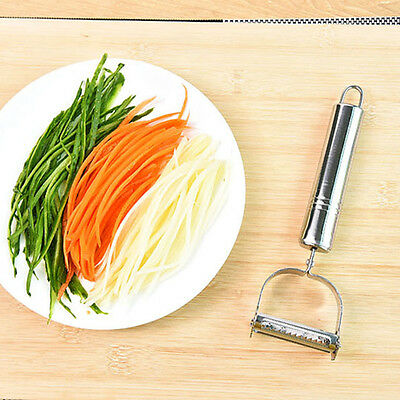 1pcs Carrot Potato Stainless Paring Fruit Knife Peeler Grater Vegetable Slicer