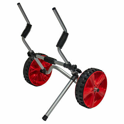 GoSea Sit On Top Kayak Trolley Single Double Adjustable Scupper Cart Kick Stand