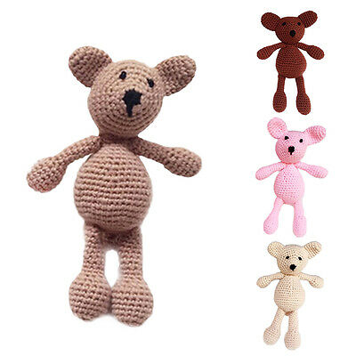 Lovely Newborn Baby Infant Crochet Knit Toy Bear Photo Photography Prop Outfits