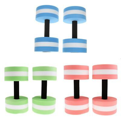3 Pairs Water Aerobics Dumbbell Aquatic Barbell Pool Fitness Weight Training