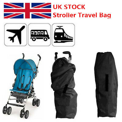 Portable Baby Umbrella Stroller Pram Gate Check Air Plane Travel Bag Cover Black