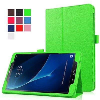 "Leather Folio Case Stand Cover For Samsung Galaxy Tab A6 10.1"" (2016) T580 T585"