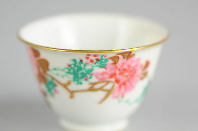 20th C Japanese Porcelain Flowers & Butterflies Bowl Marked