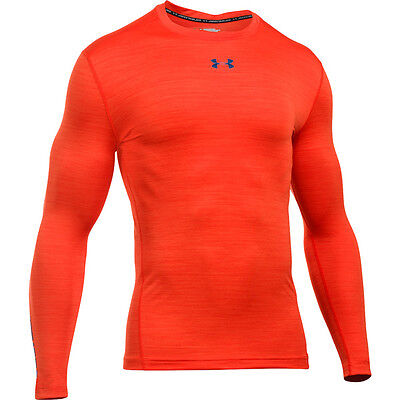 Under Armour Coldgear Twist Crew Compression Longsleeve Shirt orange 1280797-860